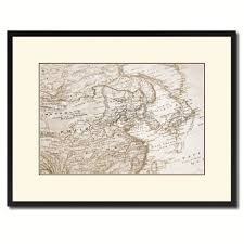 europe asia vintage sepia map canvas print picture frame gifts
