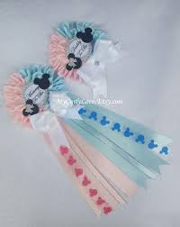 minnie mickey twins baby shower mommy to be