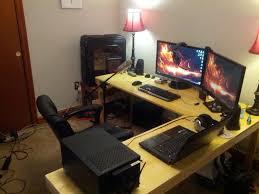 Gaming L Desk Wooden L Shaped Gaming Desk Modern Desks Decoration Home Makeovers