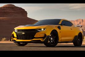 newest camaro michael bay reveals bumblebee chevrolet camaro automobile