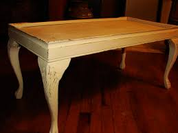 Distressed Coffee Tables by Small Distressed Coffee Table Candle Wax And Chalk Paint Method