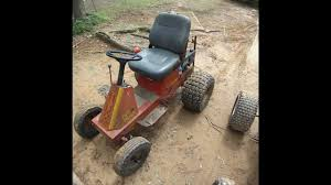 off road yazoo lawn mower conversion first ride youtube