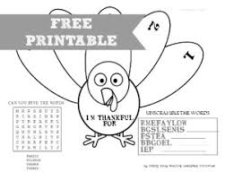 thanksgiving placemat printable for thanksgiving dinner