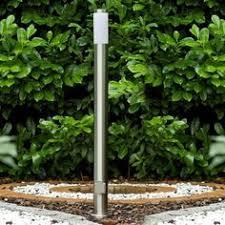 aussenleuchten design skapetze led solarleuchte spieß 56 cm edelstahl weiß