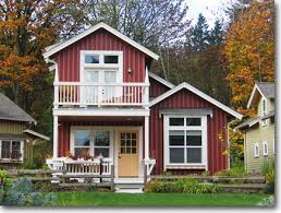 Small Two Bedroom House Two Story Cottage With Balcony For The Home Pinterest
