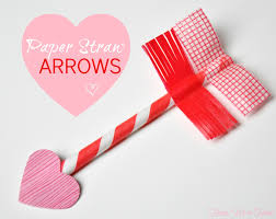 valentine u0027s day craft paper straw u0026 washi tape arrows honey