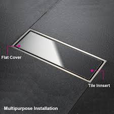 artbath tile insert design high flow rate brushed stainless steel