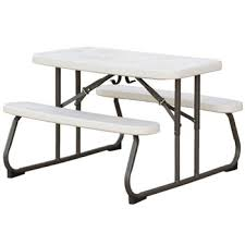 lifetime folding picnic table almond this would be great