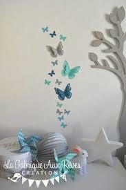 deco papillon chambre stickers papillons gris turquoise 2017 avec décoration papillon