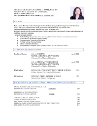 Resume Sample In The Philippines by Sample Resume For Volunteer Nurses In The Philippines Augustais
