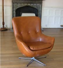 Retro Swivel Armchair Base Leather Tan Leather Chair From 60s Please Help Id Hope Its