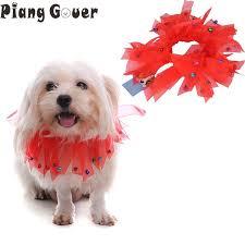dog ribbon pet dog tassel collar christmas ribbon green white dogs