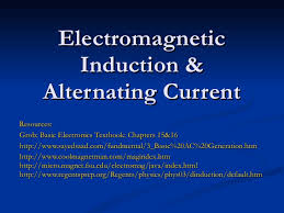 http www current electromagnetic induction alternating current