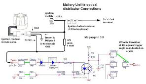 mallory unilite ignition wiring diagram with tachometer wiring