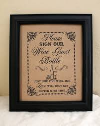 wine bottle guest book sign our wine guest bottle guest book alternative wedding