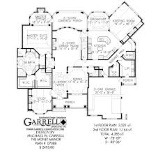 monet manor house plan estate size house plans