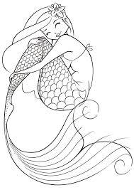 simply simple free printable mermaid coloring pages