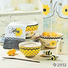 yellow kitchen theme ideas honey bee 3 d mug set of mugs w mug tree new kitchen ideas