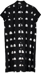 muoto dress black white marimekko com