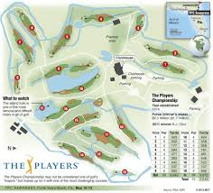 Sawgrass Map The Players Championship Course Layout Time Out