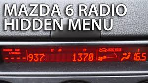 mazda radio hidden menu sound system diagnostic service mode