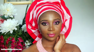 pretty pink nigerian bridal makeup gele tutorial