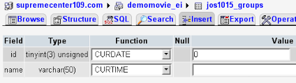 varchar date format php how to insert date in a mysql database table