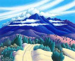 reina color pencil landscape drawings