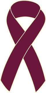 burgundy ribbon myeloma cancer awareness ribbon pin burgundy