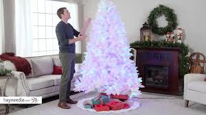 7 5 ft flocked pre lit alaskan fir tree product