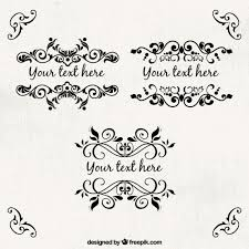 ornamental frames template vector free