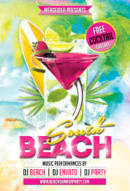 south beach party flyer mergeidea