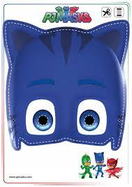halloween mask cutouts printables pj masks owlette gekko u0026 catboy masks all mommy