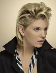 short hairstyles as seen from behind short hairstyle with the sides combed back behind the ears