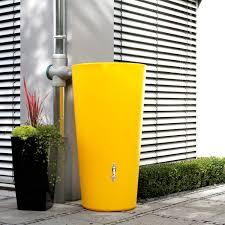 Kies Garten Gelb Regentonne Gelb Modell Rainbowl 210 L Banana Regentonne Klare