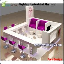 Nail Bar Table Custom Wooden Nail Bar Furniture Manicure Table Kiosk Intended For