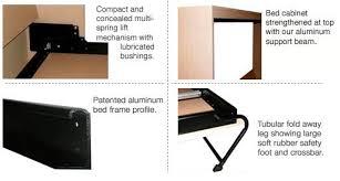 side tilt elite murphy bed aluminum bed frame international