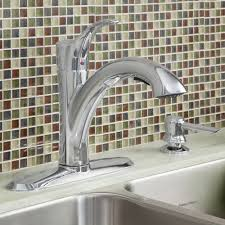 mesa 1 handle pull out kitchen faucet with soap dispenser