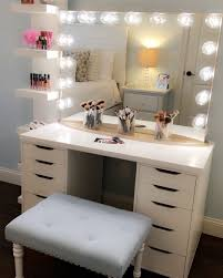 Lighted Makeup Vanity Mirror Furniture Makeup Desk Ikea Small Bedroom Vanity Lighted