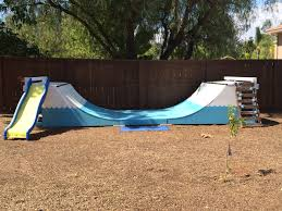 backyard with half pipe the perfect gift for children a little