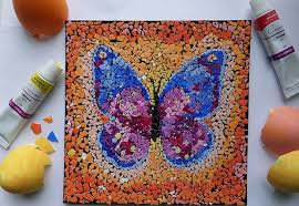 Art And Craft For Kids Of All Ages - eggshell mosaic art ideas to reuse eggshells after easter