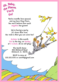 oh baby the places you ll go dr seuss 1st birthday invitation oh baby the places you ll go
