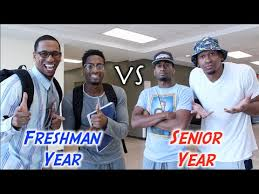 High School Freshman Meme - high school freshman year vs senior year youtube