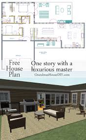 free house plan with a great back deck and a deluxe master