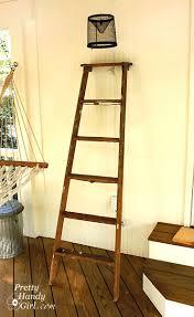 Diy Ladder Bookshelf Ladder Display Shelves Pretty Handy
