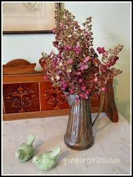 Dried Hydrangeas Vignette With Dried Hydrangeas