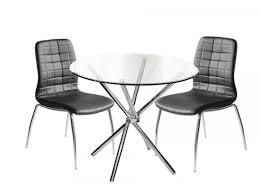 modern glass dining table quilted glass dining table set 4 black quilted chairs mulberry moon