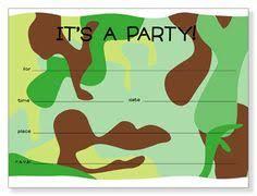 printable hunting birthday invitation party ideas pinterest