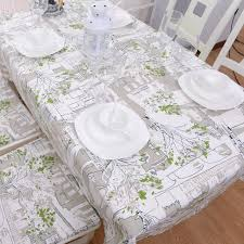 european country style green trees print tablecloths modern shabby