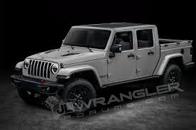 jeep convertible white will the jeep wrangler pickup look like this motor trend
